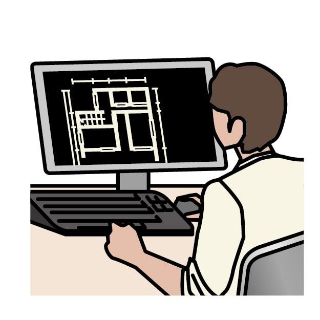 CADを使用している男性のイメージ