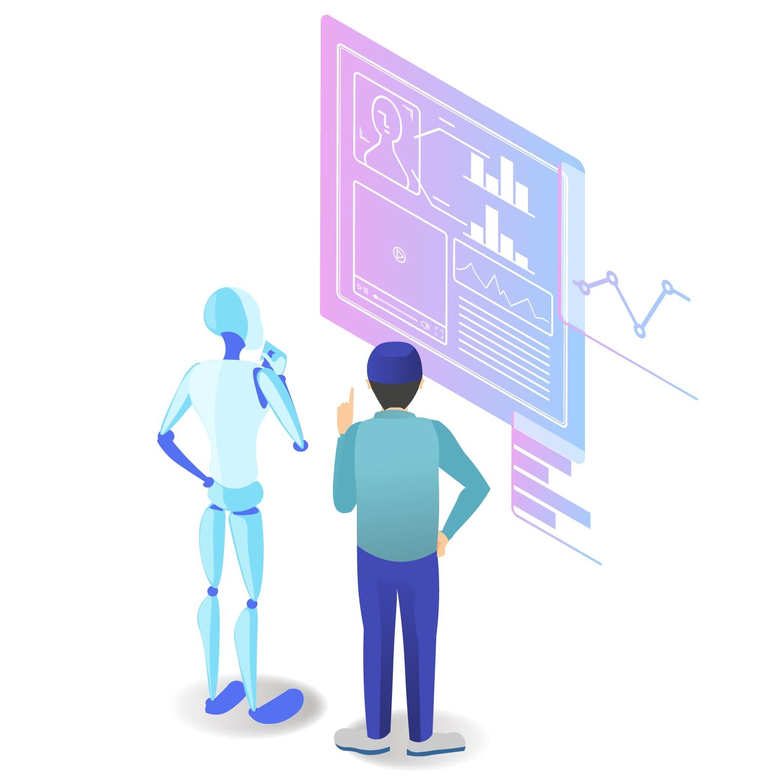 AIと人間の情報伝達イメージ