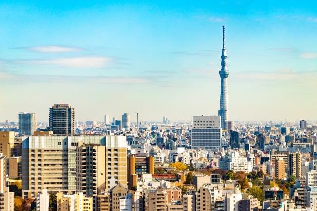 東京を一望したイメージ